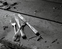 Someone's Utensils, Abandoned Farm, Colorado 2013